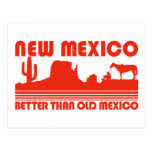 New Mexico Better Than Old Mexico Postcard