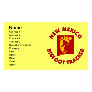 New Mexico Bigfoot Tracker Business Card Templates