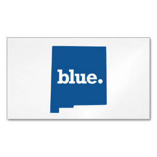 NEW MEXICO BLUE STATE BUSINESS CARD MAGNET