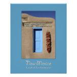 New Mexico Blue Window Photo Print