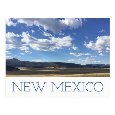 USA Themed New Mexico Bright Blue Sky & Mountains Postcard