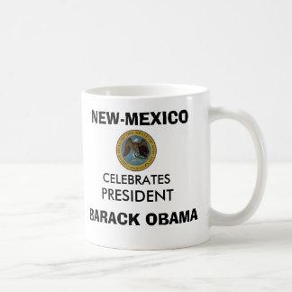 NEW-MEXICO Celebrates President OBAMA KEEPSAKES Classic White Coffee Mug