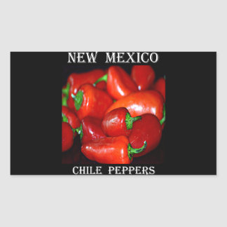 New Mexico Chili Peppers (Chile) Rectangular Stickers
