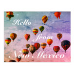 New Mexico Colorful Hot Air Balloons Postcard