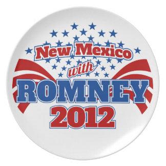 New México con Romney 2012 Plato De Comida