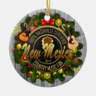 New Mexico Country Music Fan Christmas Ornament