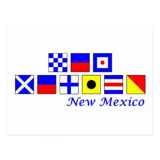 New México deletreó en alfabeto náutico de la band Postales