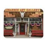 New México, el Cimarrón. Galería de arte del Cimar Imanes De Vinilo
