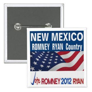 NEW MÉXICO es botón del país de Romney Ryan Pins