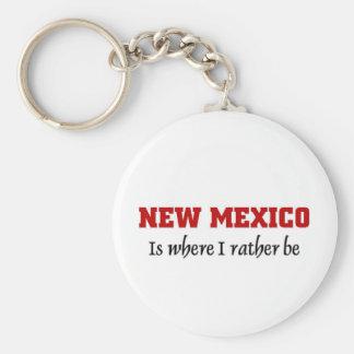 New México es donde quiero estar Llavero Personalizado