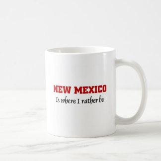 New México es donde quiero estar Taza Básica Blanca