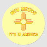New México - está en América Etiqueta Redonda