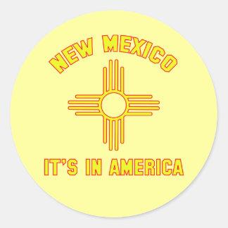 New México - está en América Pegatina Redonda