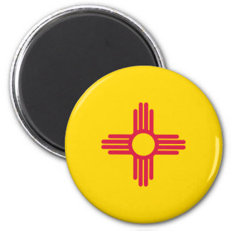 New Mexico Flag 2 Inch Round Magnet