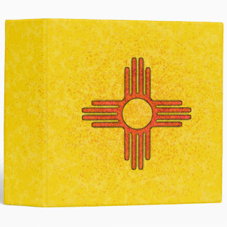 """NEW MEXICO FLAG 2"""" Ring Binder"""