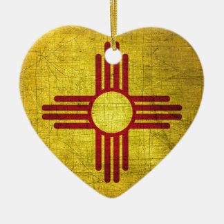 New Mexico Flag Ceramic Ornament
