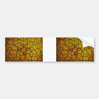 New Mexico Flag Cracked Earth Bumper Sticker