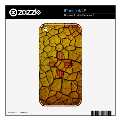New Mexico Flag Cracked Earth Decal For The iPhone 4