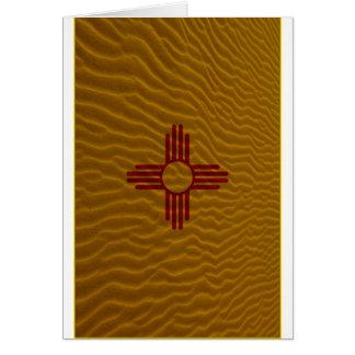 New Mexico Flag Dessert Sand Greeting Card