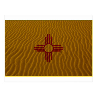 New Mexico Flag Dessert Sand Post Card