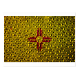 New Mexico Flag Diamond Plate Post Cards