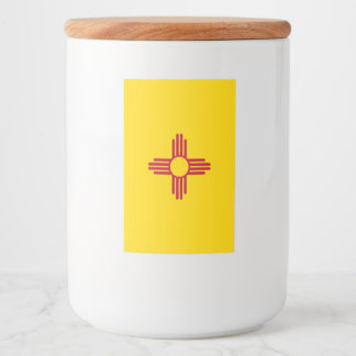 New Mexico Flag Food Label