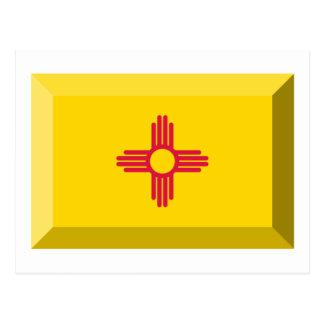 New Mexico  Flag Gem Postcard