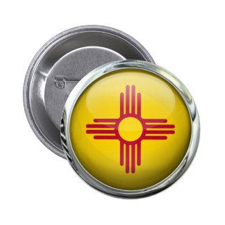 New Mexico Flag Glass Ball Button