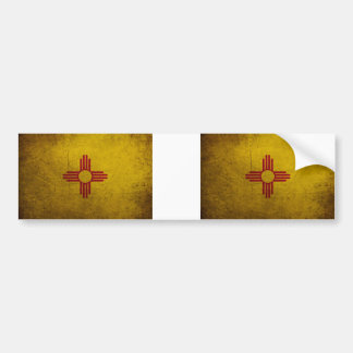 New Mexico Flag Grunge look Bumper Sticker