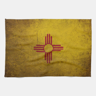 New Mexico Flag Grunge look Hand Towel