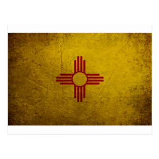 New Mexico Flag Grunge look Postcards