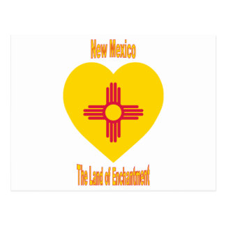 New Mexico Flag Heart Post Cards