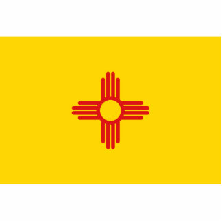 New Mexico Flag Magnet Cut Out