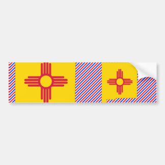 New Mexico Flag Map Bumper Sticker