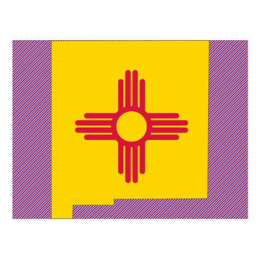 New Mexico Flag Map Post Card
