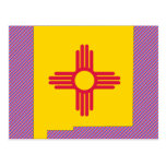 New Mexico Flag Map Postcard