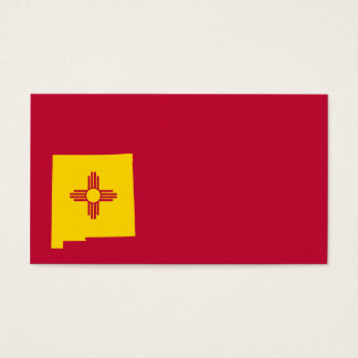New Mexico Flag Map Shape Business Card
