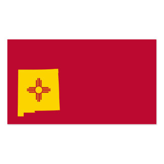 New Mexico Flag Map Shape Double-Sided Standard Business Cards (Pack Of 100)