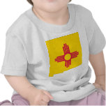 New Mexico Flag Map Tee Shirts