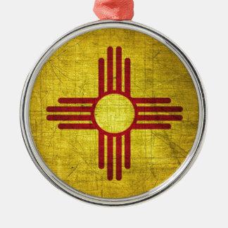 New Mexico Flag Metal Ornament