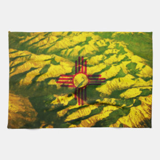 New Mexico Flag Mountains Hand Towel