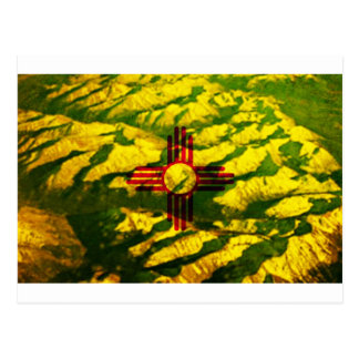 New Mexico Flag Mountains Post Card