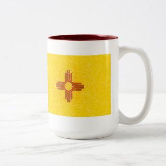 NEW MEXICO FLAG Two-Tone COFFEE MUG
