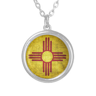 New Mexico Flag Personalized Necklace