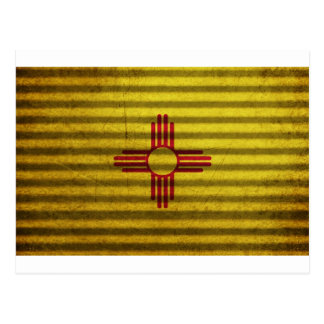 New Mexico Flag old tin roof Postcards