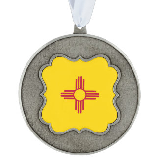New Mexico Flag Pewter Ornament