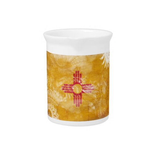New Mexico Flag Pitcher
