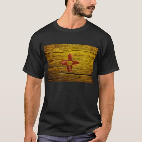 New Mexico flag rustic wood T-Shirt