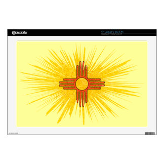 """NEW MEXICO FLAG 17"""" LAPTOP DECALS"""