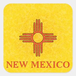 NEW MEXICO FLAG SQUARE STICKER
